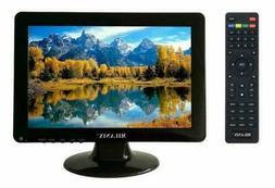 Milanix 12 Inch LED Small Kitchen TV with HDMI, VGA, Built i