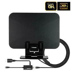 LEADZM 150 Miles Digital HDTV TV Antenna Indoor Amplifier 10