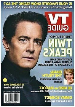 2017 TV Guide Return of Twin Peaks Klye MacLachlan Cover!