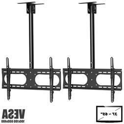 """2x Ceiling TV Mount Bracket Tilt Adjustable Pole 37 40 42"""" 4"""