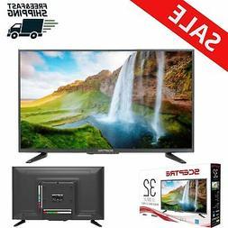 32 Inch Flat Screen LED TV Wall Mountable HDTV 720 Home Tele