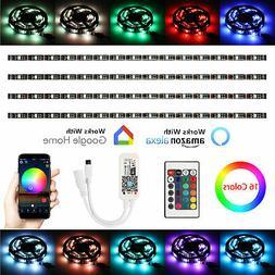 Smart WiFi 4pcs 60 LED Strip RGB USB  TV Back Light for Alex