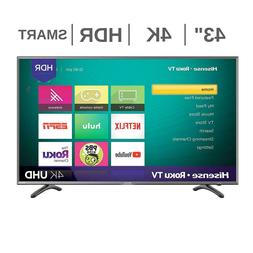 "Hisense 43R7050E1 43"" UHD 4K HDR Roku Smart LED TV"