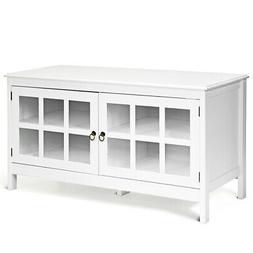 "50"" TV Stand Modern Wood Storage Console Entertainment Cen"