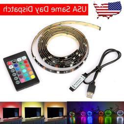5050 RGB LED Strip Light Christmas Decor USB TV PC Back Mood