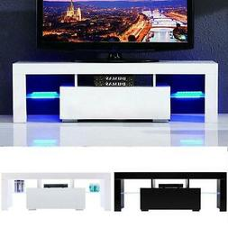 """51"""" Wood High Gloss LED TV Stand Entertainment Furniture Cen"""