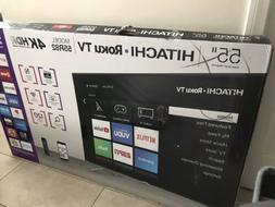 "HITACHI 55"" 4K Roku Dmart Tv 55R82 New ( Local Pick Up Onl"
