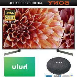 Sony 55-Inch 4K Ultra HD Smart LED TV w/ Google Home Mini +