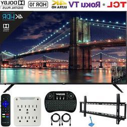 TCL 65R617 65-Inch 4K Ultra HD Roku Smart LED TV