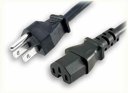 NEW 6ft 3 Prong AC Power Cord for TV Printer Desktop PC LCD