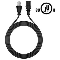6ft UL Listed AC Power Cord Cable Plug for Haier LCD 720 PLA