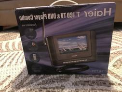 Haier 7'' Portable LCD TV and DVD Player HLTD7 NIB Remote An