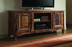 Coaster 700303 Home Furnishings TV Console Reclaimed Wood