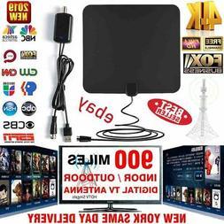 900 Miles Range Digital TV Antenna 1080P Amplified HDTV Boos