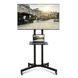 Adjustable TV Stand Mobile Cart Mount Wheels for 32 37 42 46