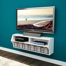 Prepac Altus Wall Mounted Audio & Video Console White