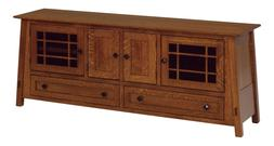 Amish Arts & Crafts Craftsman TV Stand Console Solid Wood Te