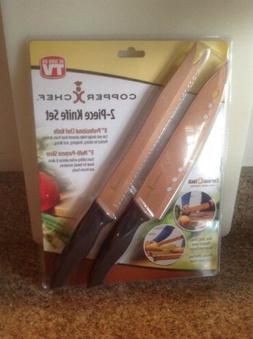 COPPER CHEF-2-PIECE KNIFE SET-AS SEEN ON TV