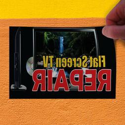 Decal Sticker Flat Screen Tv Repair Business flat Outdoor St