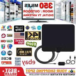 Digital Indoor TV Antenna 4K UHD SUHD HD VHF UHF Flat Design