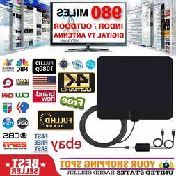 Digital TV Antenna 980 Miles Range Signal Booster Amplifier
