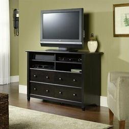 Sauder Edge Water Highboy TV Stand in Estate Black