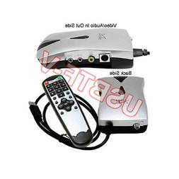 External USB Analog NTSC Cable TV Tuner DVR Adapter