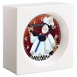 FAT ITALIAN CHEF DRUNK ALARM CLOCK FOR KITCHEN DINING BEDROO