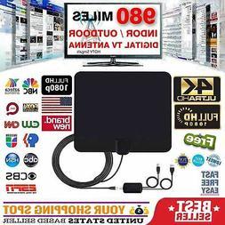 980 Miles Range Digital TV Antenna 1080P Amplified HDTV Boos