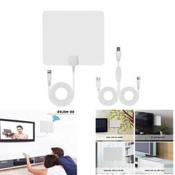 Flat Indoor Digital TV Antenna 60 Mile Range 1080P Signal Bo