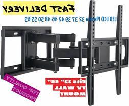 Full Motion Articulating TV Wall Mount LED LCD Plasma 32 37