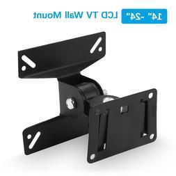 Tilt & Swivel LED LCD TV Wall Mount Bracket 14 17 19 22 24 2