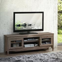 TECHNI MOBILI Grey Driftwood TV Stand