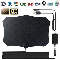 HD TV Antenna 50 Miles Amplified Indoor Smart Digital 1080P