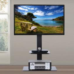 Heavy Duty Floor TV Stand with Mount 2 Shelves for 32 - 65 I
