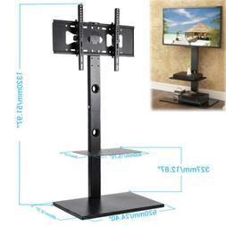 "Height Adjust Floor TV Cart Stand Mount 52"" Pedestal Base Fi"