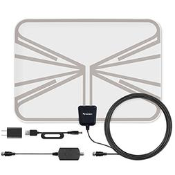 Fosmon 60 Miles Indoor Ultra Thin Transparent HDTV Antenna w