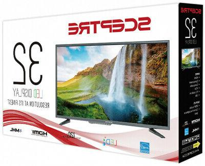 32 Led Best HD Screen HDTV Wall USB HDMI Class 720P Black