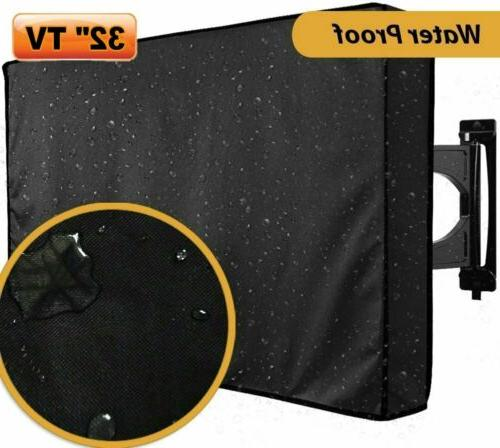 "32"" TV Cover LCD LED Set Waterproof Television Protector Out"