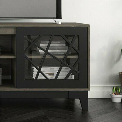 Nexera Graphik TV Stand 72-inch Bark Grey and