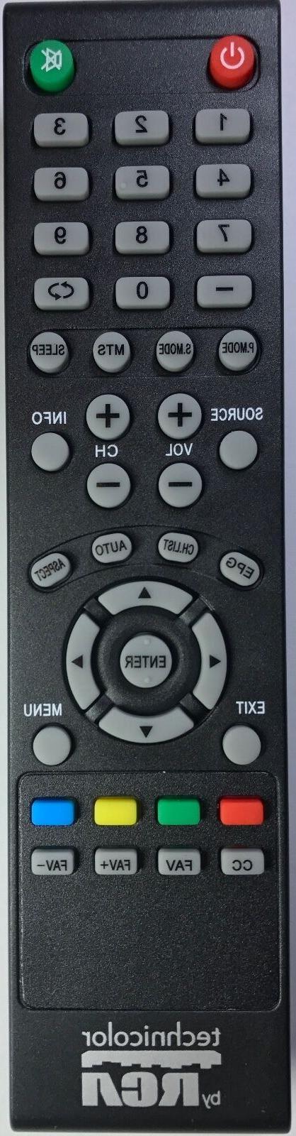Original New Technicolor by RCA  TV Remote for most Technico