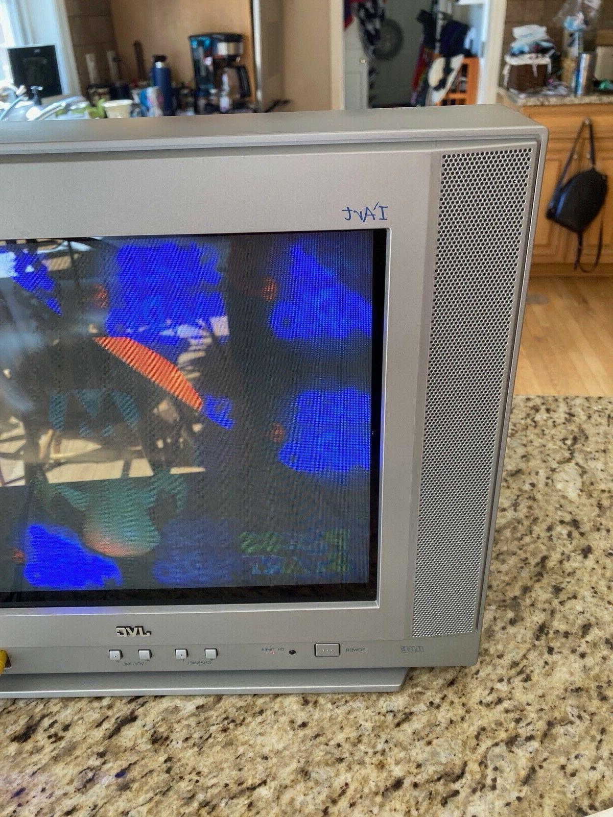 """JVC AV14F703 14"""" CRT TV Gaming w/ - Works Great"""