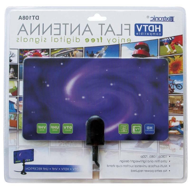 Ultra Thin Flat Antenna HDTV 1080p Purple /