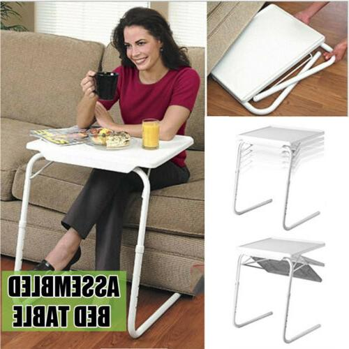 Folding TV Tray Table Eating Snack Dinner Coffee Small Desk