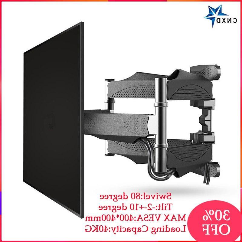 """Full Motion 32""""-60"""" LCD LED TV Retractable <font><b>Wall</b></font> <font><b>Mount</b></font> Swing 400x400mm"""