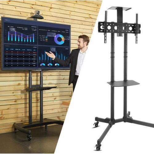 mobile tv cart stand rolling lcd led