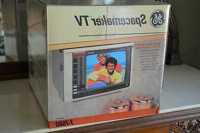 "NIB! Vintage GE General Electric Spacemaker 9"" Color TV & AM"
