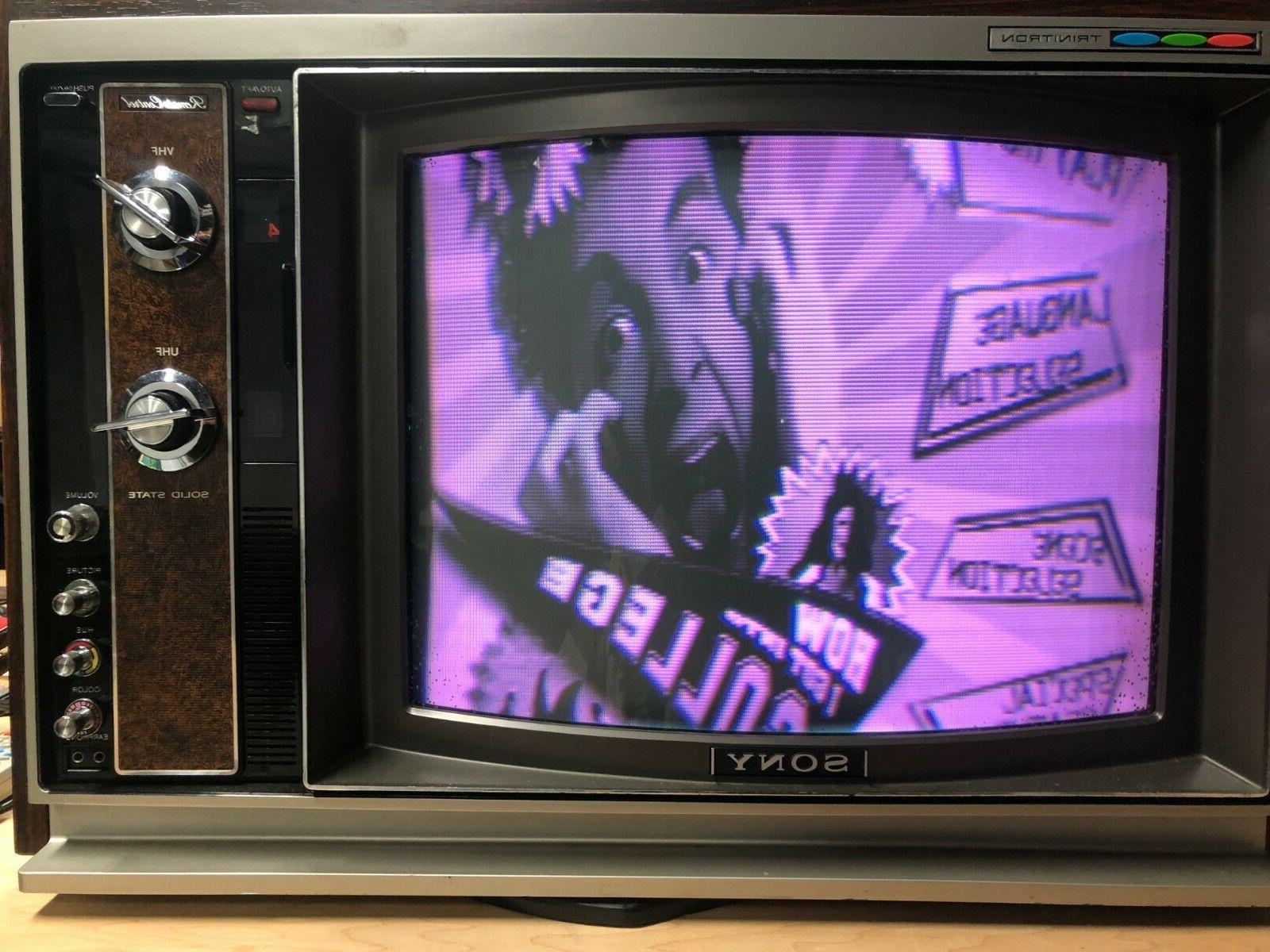 RARE Inch 1730R - Color - W/remote - TV