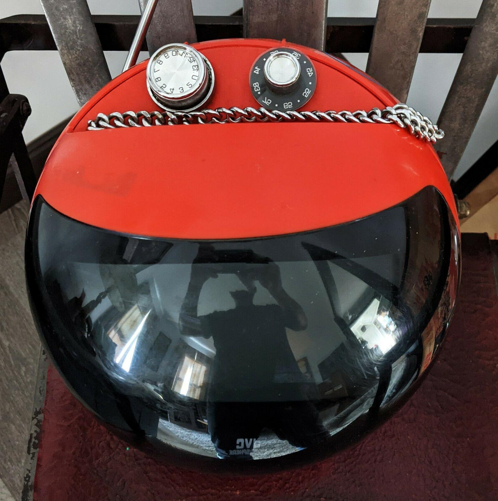 Vintage Videosphere Space Age Helmet CRT Television - Orange