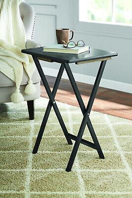 Black 5 pc. Folding TV Tray Table Set  Home Office Workstati